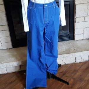 Dickies size 16 Jr's Carpenter Pants blue with wht